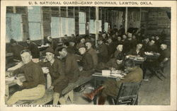 US National Guard - Camp Doniphan - Interior of a Mess Hall