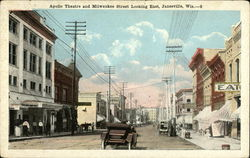 Apollo Theater and Milwaukee Street Looking East