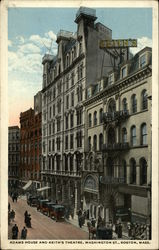 Adams House and Keith's Theatre, Washington St Postcard