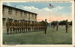 U.S. National Army Cantonment, Camp Custer - At Attention