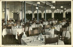Hotel Weirs - Dining Room Postcard