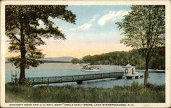"Endicott Rock and U.S. Mail Boat ""Uncle Sam"" Postcard"