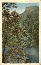 The Old Man of the Mountain and Profile Lake, White Mountains, N.H