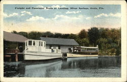 Freight and Passenger Boats at Landing, Silver Springs