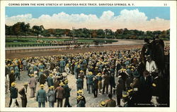 Saratoga Race Track - Coming Down the Home Stretch