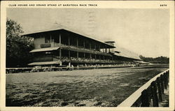 Club House and Grand Stand at Race Track
