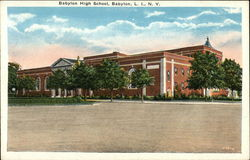 Babylon High School Postcard