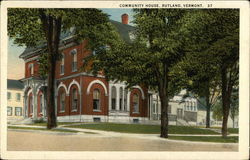 Street View of the Community House Postcard