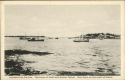 Way Down on the Coast of Maine - The Home of Seth and Mother Parker Postcard