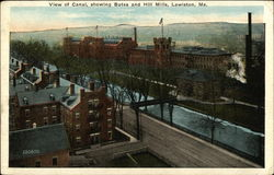 View of Canal showing Bates and Hill Mills