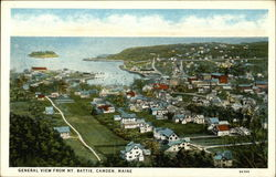 General View from Mt Battie Postcard