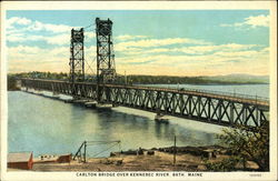 Carlton Bridge over Kennebec River