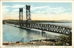 Carleton Bridge over Kennebec River