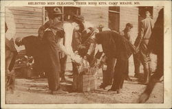 Selected Men Cleaning their Mess Kits