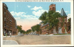 First Congregational Church and Main Street