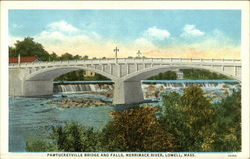 Pawtucketville Bridge and Falls, Merrimack River