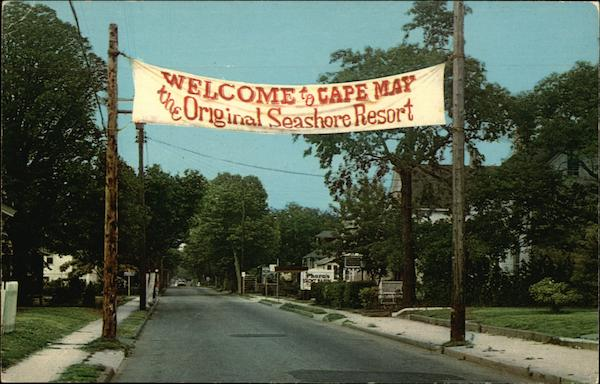 Entrance to Cape May New Jersey