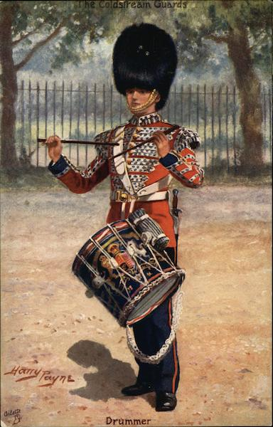 Drummer For The Coldstream Guards Military