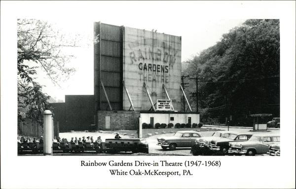 Rainbow Gardens Drive In Theatre White Oak Pa