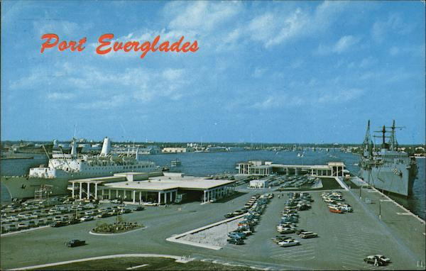 View of Port, Port Everglades Fort Lauderdale Florida