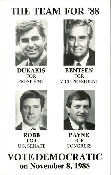 The Team For '88 - Vote Democratic on November 8, 1988