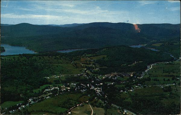 Aerial View with Lake Whitingham in the Background Wilmington Vermont