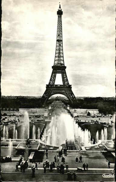 Eiffel Tower and Fountains Paris France