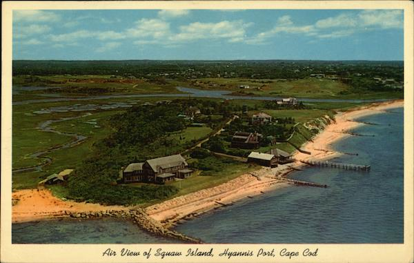 Air View of Squaw Island Hyannis Port Massachusetts