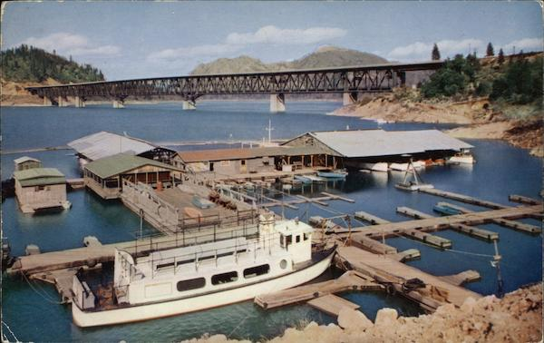 Pit River Bridge Over Shasta Lake California Boats, Ships
