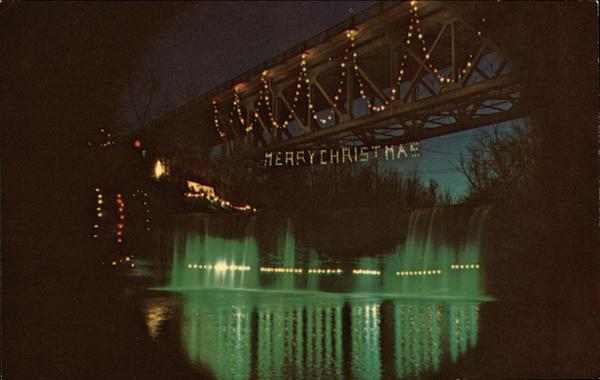 Annual Christmas Lighting Ludlow Falls, OH