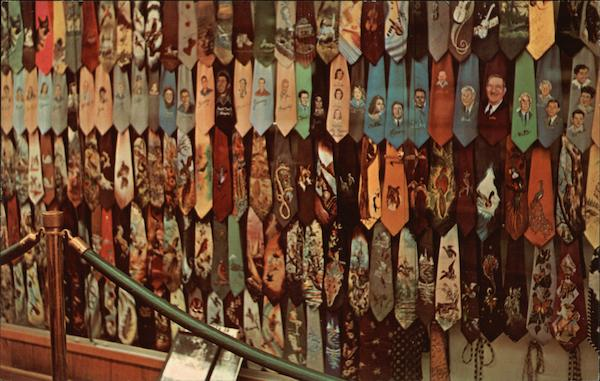 Collection of Hand Painted Ties from Roy Acuff's Hobby Exhibits Nashville Tennessee