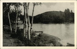Along the Shore, Casino and Sunset Hill, Blodgett Landing, on Lake Sunapee