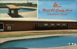 West 40 Camp Area Postcard