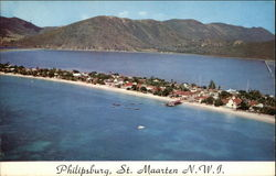 Air View of Philipsburg, Capital of St. Maarten, Netherlands West Indies