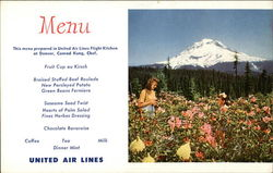 Mt Hood and Summer Flowers Postcard