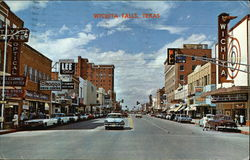 Indiana Street Looking North Postcard