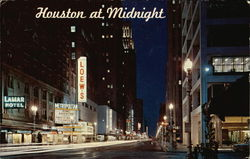 Houston at Midnight Postcard