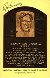 "Vernon Louis Gomez ""Lefty"" Postcard"
