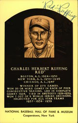 Autographed Red Ruffing Postcard