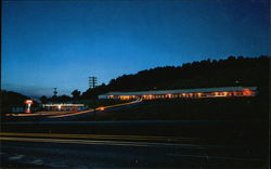 Night View, Johnson's Motel Postcard