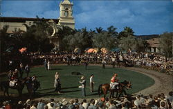 Beautiful Paddock and Walking Ring at Del Mar Racetrack