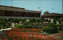 CLubhouse Garden Scene Churchill Downs Home of the Kentucky Derby