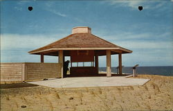 Interpretive Shelter at the Marconi Wireless Station Site, Cape Cod National Seashore Postcard