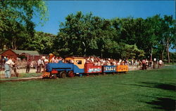 Kiddie Train, Vilas Park Zoo Postcard