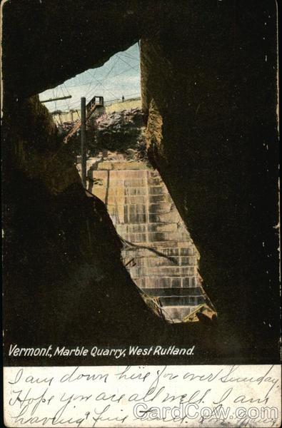 Marble Quarry West Rutland Vermont