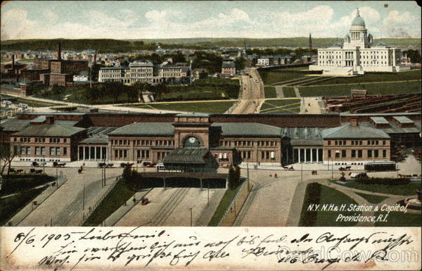 N.Y., N.H. & H. Station and Capitol Providence Rhode Island
