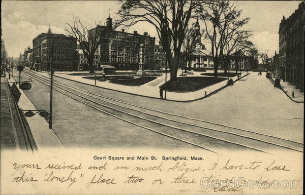 Court Square and Main St Springfield Massachusetts