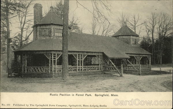 Rustic Pavilion in Forest Park Springfield Massachusetts