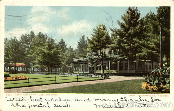 Cafe and Park, Whalom Park Lunenburg Massachusetts