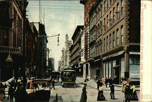 Chestnut Street, West from 8th Street Philadelphia Pennsylvania